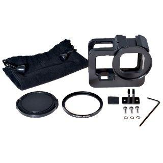 GoPro(ゴープロ)用 HERO9Black対応 アクセサリー アルミ製 フレーム セット (UVカットレンズ付き) GLD5208MJ128