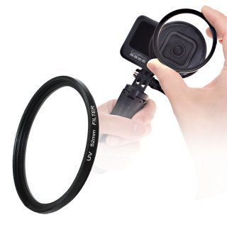 HERO10/9/8/7/6 Black/HERO5対応 UVフィルター 52mm UVカットレンズ単品 ゴープロ用 口径52mmレンズ用 GLD5284MJ136