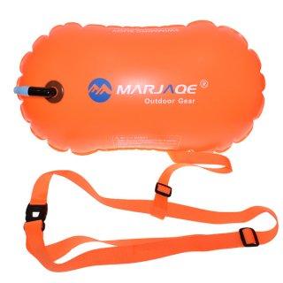 MARJAQE 緊急用 フロートブイ 水泳ブイ スイムブイ 浮き フロート エアバッグ 軽量 コンパクト ビーチ 緊急浮力体 ブイ GLD6137MJ213