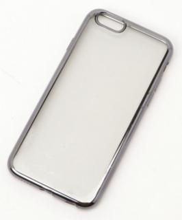 メタルバンパークリアiPhoneカバー (ガラス液晶カバー付き)ブラック(L)