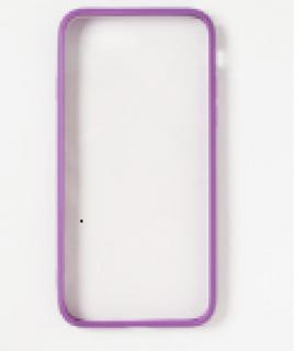 メタルバンパークリアiPhoneカバー(iphone7対応)パープル
