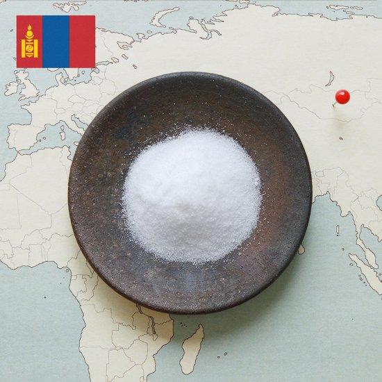 モンゴル平原の岩塩