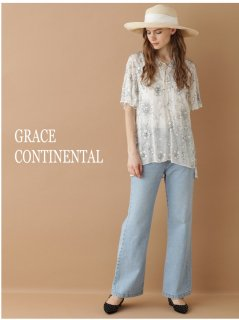 【GRACE CONTINENTAL】サラサ刺繍TOP【全2色】