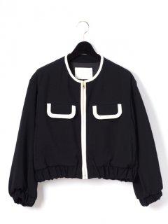 【GRACE CONTINENTAL】トリアセトリミングジャケット【ブラック】