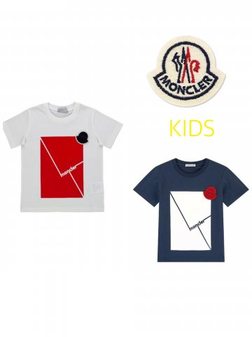 【MONCLER KIDS】パネルTシャツ(KIDS)【全2色】