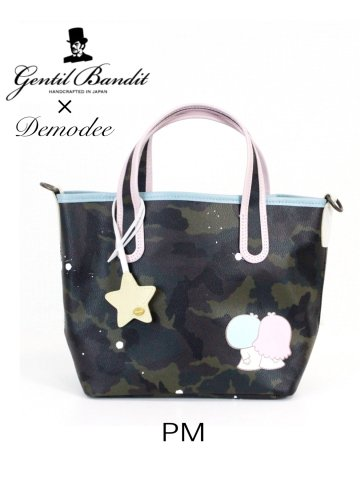 【GENTIL BANDIT】Sanrio×GENTIL BANDIT×Demodeeトリプルコラボ迷彩トートバック(PMサイズ)【Little Twin Stars】