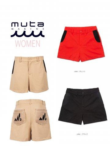【muta MARINE】ファーポケットホットパンツ(WOMEN)【全3色】