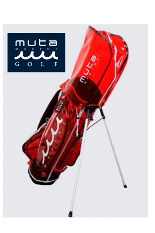 <img class='new_mark_img1' src='https://img.shop-pro.jp/img/new/icons13.gif' style='border:none;display:inline;margin:0px;padding:0px;width:auto;' />【muta MARINE GOLF】2020 クリアキャディバッグ【レッド】