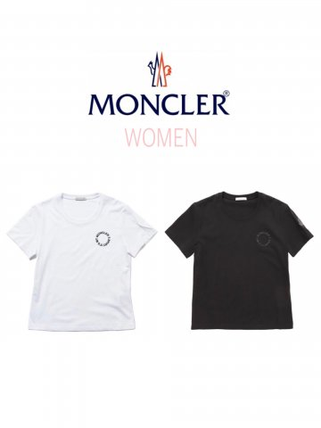 <img class='new_mark_img1' src='https://img.shop-pro.jp/img/new/icons13.gif' style='border:none;display:inline;margin:0px;padding:0px;width:auto;' />【MONCLER】クルーネックTシャツ(WOMEN)【全2色】