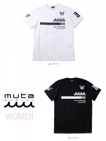 【muta MARINE】Black Marine×Kuromi×My Melody FISHING Tシャツ(WOMEN)【全2色】