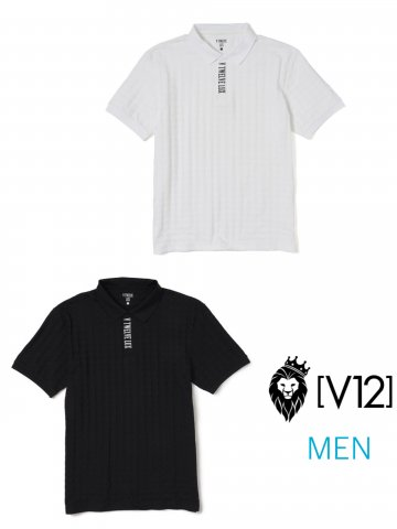 <img class='new_mark_img1' src='https://img.shop-pro.jp/img/new/icons13.gif' style='border:none;display:inline;margin:0px;padding:0px;width:auto;' />【V12】LX HOUNDSTOOTH POLO(MEN)【全2色】