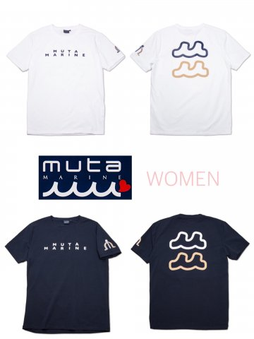 <img class='new_mark_img1' src='https://img.shop-pro.jp/img/new/icons13.gif' style='border:none;display:inline;margin:0px;padding:0px;width:auto;' />【muta MARINE】BACK TWIN WAVE Tシャツ(WOMEN)【全2色】