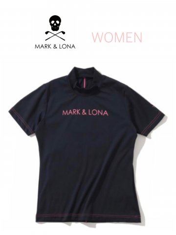 <img class='new_mark_img1' src='https://img.shop-pro.jp/img/new/icons13.gif' style='border:none;display:inline;margin:0px;padding:0px;width:auto;' />【MARK&LONA】Parallel Mock neck shirts(WOMEN)【BLACK/PINK】