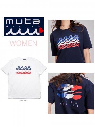 <img class='new_mark_img1' src='https://img.shop-pro.jp/img/new/icons13.gif' style='border:none;display:inline;margin:0px;padding:0px;width:auto;' />【muta MARINE】MOTION WAVE Tシャツ(WOMEN)【全2色】