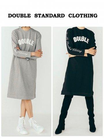 【DOUBLE STANDARD CLOTHING】杢インレーニットワンピース【全2色】