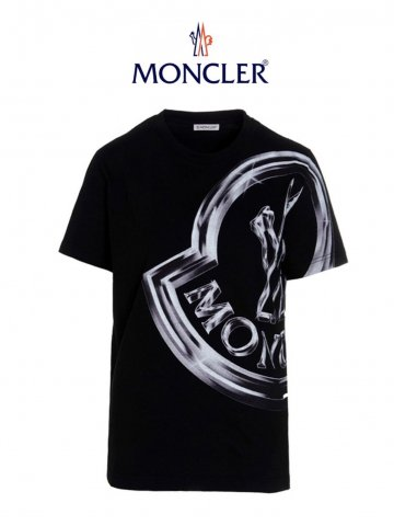 <img class='new_mark_img1' src='https://img.shop-pro.jp/img/new/icons17.gif' style='border:none;display:inline;margin:0px;padding:0px;width:auto;' />【MONCLER】グラフィカルロゴTシャツ(WOMEN)【BLACK】