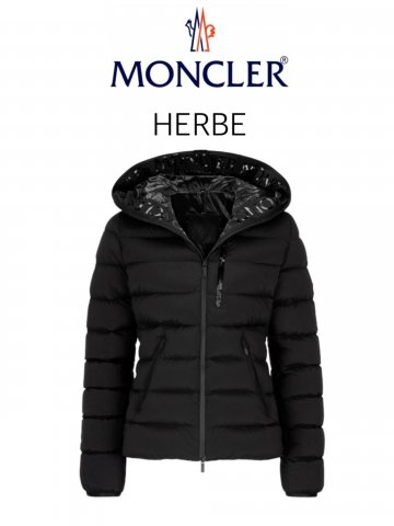 <img class='new_mark_img1' src='https://img.shop-pro.jp/img/new/icons13.gif' style='border:none;display:inline;margin:0px;padding:0px;width:auto;' />【MONCLER】HERBE ダウンジャケット(WOMEN)【BLACK】