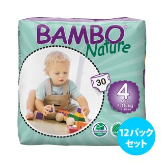 <img class='new_mark_img1' src='https://img.shop-pro.jp/img/new/icons5.gif' style='border:none;display:inline;margin:0px;padding:0px;width:auto;' />Bambo Nature紙おむつ <12パックセット>