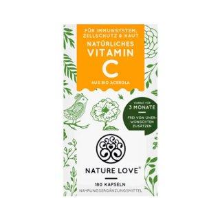 Nature Love(ネイチャーラブ) オーガニックアセロラ ビタミンCカプセル 180錠  105g