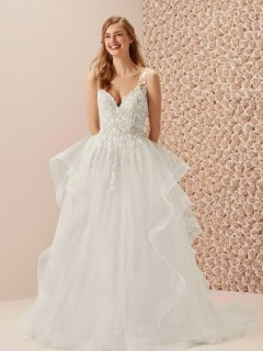 【Used 35%OFF】 Pronovias MAREA ROMANTIC(プロノビアス Aラインドレス)US2