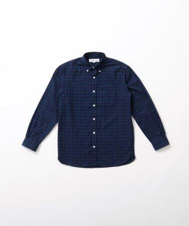 ギンガムチェック綿ネルシャツ 【MEN】