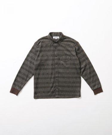 ダイヤ柄 ボタンダウン ニットシャツ 【MEN】