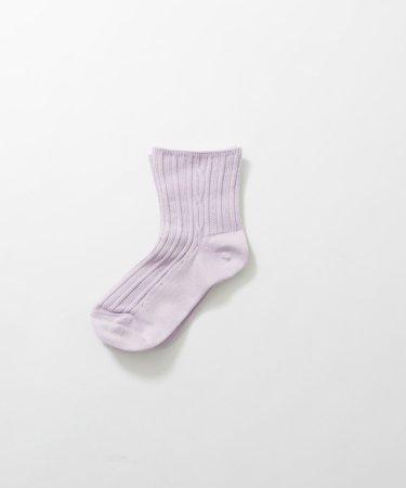 ゆったり履き口 ケーブル編み靴下 ショート