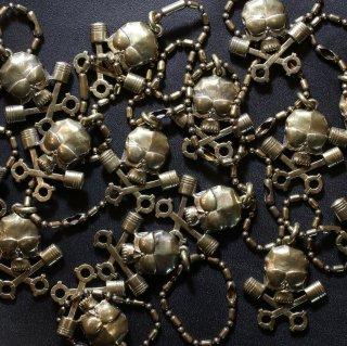 M&W works<BR>THE WILD ONE<BR>B.R.M.C skull charm keyholder<BR>brass 真鍮製