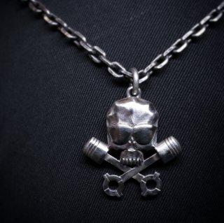 M&W works<BR>THE WILD ONE<BR>B.R.M.C skull charm silver925