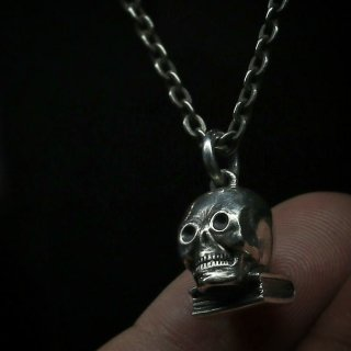 M&W works<BR>skull on book charm<BR>silver925