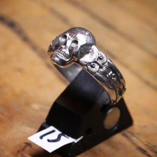 M&W works<BR>skull & owl ring<BR>silver925