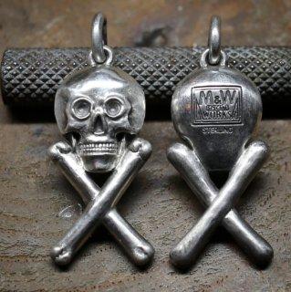 M&W works<BR>skull & bone charm<BR>silver925