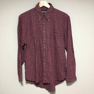 STUSSY チェックシャツ 赤紺白  Mサイズ