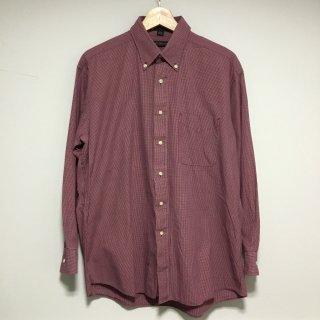 トミーヒルフィガー チェック ボタンダウンシャツ 赤白紺