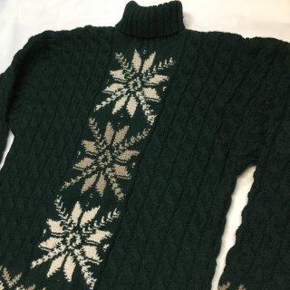 オールド GAP ハンドニット タートルネックセーター