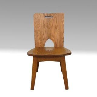 国産ダイニングチェア   C-102(板) タモ材 たかやま 国産無垢家具【展示在庫品】