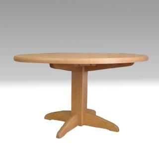国産ダイニングテーブル 丸テーブル 120Φ 1本脚 タモ材 たかやま 国産無垢テーブル【展示在庫品】