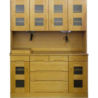 【現品特価】160オープンボード アルダー材(上下重ね)国産家具【開梱・設置無料】