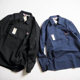 BEN DAVIS ベンデイビス ハーフジップワークシャツ 1/2 ZIP LONG SLEEVE/2カラー(ソリッドカラー)