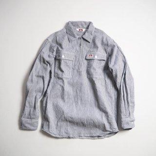 BEN DAVIS ベンデイビス ハーフジップワークシャツ 1/2 ZIP LONG SLEEVE/HICKORY STRIPE