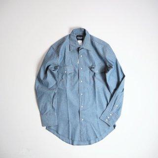 Wrangler ラングラー  シャンブレーウエスタンシャツ 70136MW / CHAMBRAY