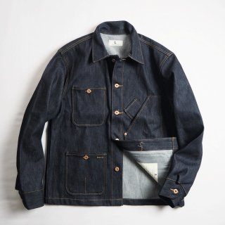 TELLASON STOCK テラソンストック デニムカバーオール COVERALL JACKET/CONE MILLS 14oz NON-SELVEDGE DENIM
