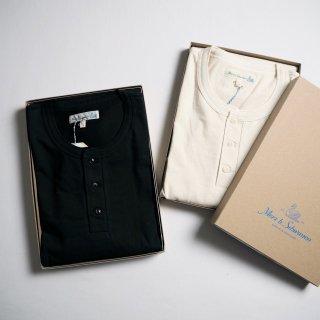 Merz b. Schwanen メルツベーシュヴァーネン リラックスフィット長袖ヘンリーネックTシャツ #204 / 2カラー