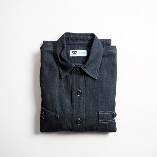 TELLASON テラソン デニムワークシャツ DOCKWORKER DENIM SHIRT / 8.5oz RINSED ITALIAN DENIM