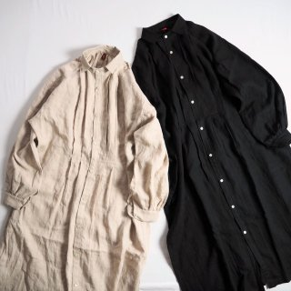 Le Sans Pareil ル サン パレイユ リネン シャツワンピース LINEN BIAUDE SHIRT DRESS / 2カラー<img class='new_mark_img2' src='https://img.shop-pro.jp/img/new/icons13.gif' style='border:none;display:inline;margin:0px;padding:0px;width:auto;' />