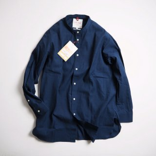 Le Sans Pareil ル サン パレイユ バンドカラーロングシャツ YD LONG BAND COLLAR SHIRTS / INDIGO<img class='new_mark_img2' src='https://img.shop-pro.jp/img/new/icons13.gif' style='border:none;display:inline;margin:0px;padding:0px;width:auto;' />