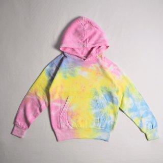 colortone KIDSカラートーン tie-dye タイダイ染め キッズパーカー#8777 PULLOVER HOODED SWEATSHIRT 2歳から8歳ごろ / SHERBET