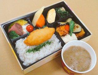 12種の野菜彩り麦とろ弁当<お茶なし>
