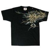 和柄半袖Tシャツ「龍使い天女」