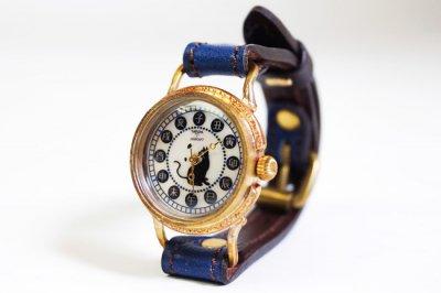 レディース手創り腕時計 本藍